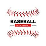 Símbolo aislado ejemplo de la bola del cordón del béisbol Diseño del deporte del fondo del béisbol del vector libre illustration