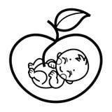 Símbolo alegórico de la maternidad Imagenes de archivo