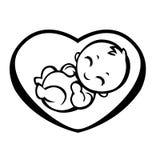 Símbolo alegórico de la maternidad Imagen de archivo libre de regalías