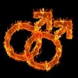 Símbolo alegre ardente Imagem de Stock