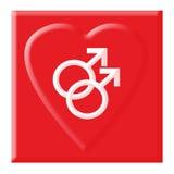 Símbolo alegre do amor Imagem de Stock