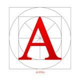Símbolo alfa da indústria ilustração royalty free
