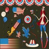 Símbolo americano nacional retro libre illustration