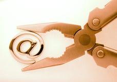 @ - símbolo & alicates do email Foto de Stock