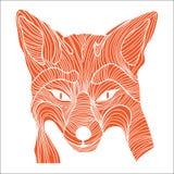 Símbolo animal del bosquejo del Fox Imagen de archivo