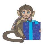 Símbolo animal del regalo del mono Foto de archivo