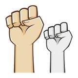 Símbolo apertado mão do punho Imagens de Stock