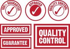 Símbolo aprobado, de la garantía y del control de calidad Foto de archivo libre de regalías