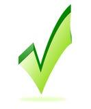 Símbolo aprovado Imagens de Stock