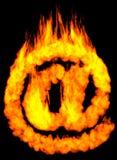 Símbolo ardente do email EM Foto de Stock Royalty Free