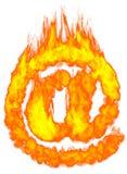 Símbolo ardente do email EM Imagem de Stock Royalty Free