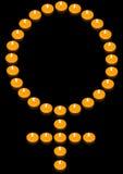 Símbolo ardiente de la mujer Fotografía de archivo libre de regalías