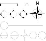 Símbolo arquitectónico stock de ilustración