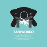 Símbolo asiático del deporte del Taekwondo Imágenes de archivo libres de regalías