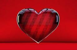 Símbolo asombroso y brillante del icono del corazón ilustración del vector