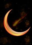 Símbolo astrológico da lua Fotos de Stock
