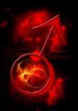 Símbolo astrológico de Marte Imagens de Stock