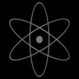 Símbolo atómico Imágenes de archivo libres de regalías