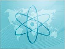 Símbolo atómico Foto de archivo libre de regalías