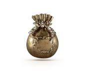 Símbolo atual de bronze do saco Foto de Stock Royalty Free