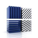 Símbolo azul abstracto del asunto con las barras Fotografía de archivo