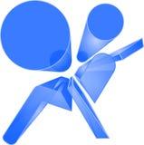 Símbolo azul brillante del saco hinchable fotos de archivo libres de regalías
