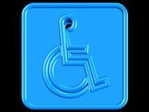 Símbolo azul da desvantagem Foto de Stock