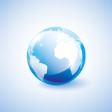Símbolo azul da terra ilustração stock