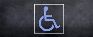 Símbolo azul de Acess Imágenes de archivo libres de regalías
