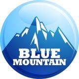 Símbolo azul de la montaña Imagen de archivo