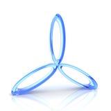 Símbolo azul de la tríada Imagen de archivo libre de regalías