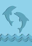 Símbolo azul de los delfínes Fotografía de archivo