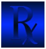 Símbolo azul de Rx Imagem de Stock