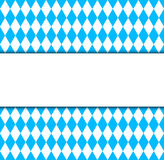 Símbolo bávaro y bandera de la bandera de Oktoberfest Foto de archivo libre de regalías