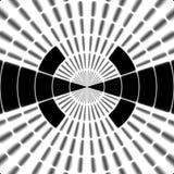 Símbolo blanco y negro de la torre o del observador de tiro de la transmisión de Ray stock de ilustración