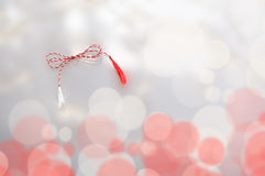 Símbolo branco vermelho da mola Imagem de Stock