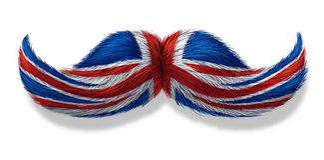 Símbolo britânico do bigode ilustração do vetor
