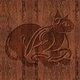 Símbolo céltico de madera tallado Foto de archivo libre de regalías