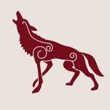 Símbolo céltico del lobo Imagen de archivo