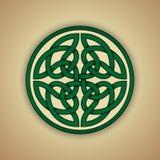 Símbolo céltico del nudo de la eternidad stock de ilustración