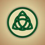Símbolo céltico del nudo de la trinidad ilustración del vector