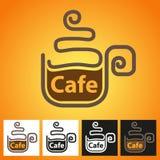 Símbolo caliente del café Imagenes de archivo