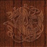 Símbolo celta de madeira cinzelado Foto de Stock Royalty Free