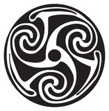 Símbolo celta - tatuagem ou arte -final Fotografia de Stock