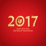 Símbolo chino del Año Nuevo del gallo Imagenes de archivo