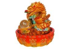 Símbolo chino del dragón de afortunado Fotos de archivo