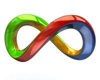 Símbolo colorido del infinito Imagen de archivo libre de regalías
