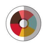 Símbolo colorido del obturador Fotografía de archivo