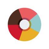 Símbolo colorido del obturador Imagen de archivo