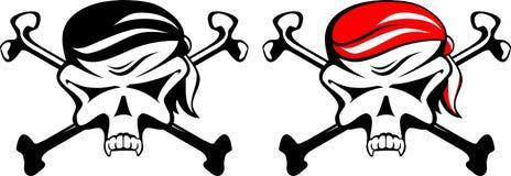 Símbolo com crânio ilustração royalty free